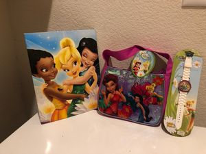 New TinkerBell: Purse, Watch, Folder for Sale in Austin, TX