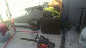 2 chainsaws and 3 leaf blower for Sale in Avondale, AZ