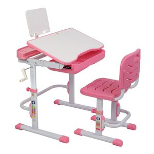 Desk And Chair 80cm Hand-Operated Lifting Table, Pink for Sale in Beaumont, CA