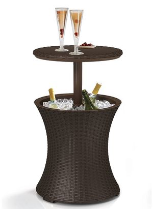 Pacific Cool Bar Outdoor Patio Furniture and Hot Tub Side Table with 7.5 Gallon Beer and Wine Cooler for Sale in Scottsdale, AZ