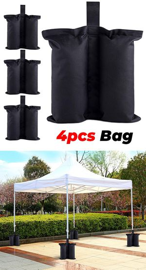 New $10 (Pack of 4) Canopy Weight Bags for EZ Pop Up Tents (Bag only, Sand and Tent not included) for Sale in Pico Rivera, CA