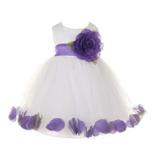 *NEW* Cinderella Couture Sz 2 White Dress w/ Purple Flower Petals & Sash for Sale in Manchester, MO