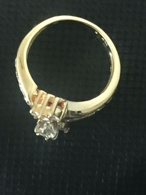 14k Yellow Gold Marquise Cut Natural .85ctw Diamond Wedding Set for Sale in Santa Ana, CA