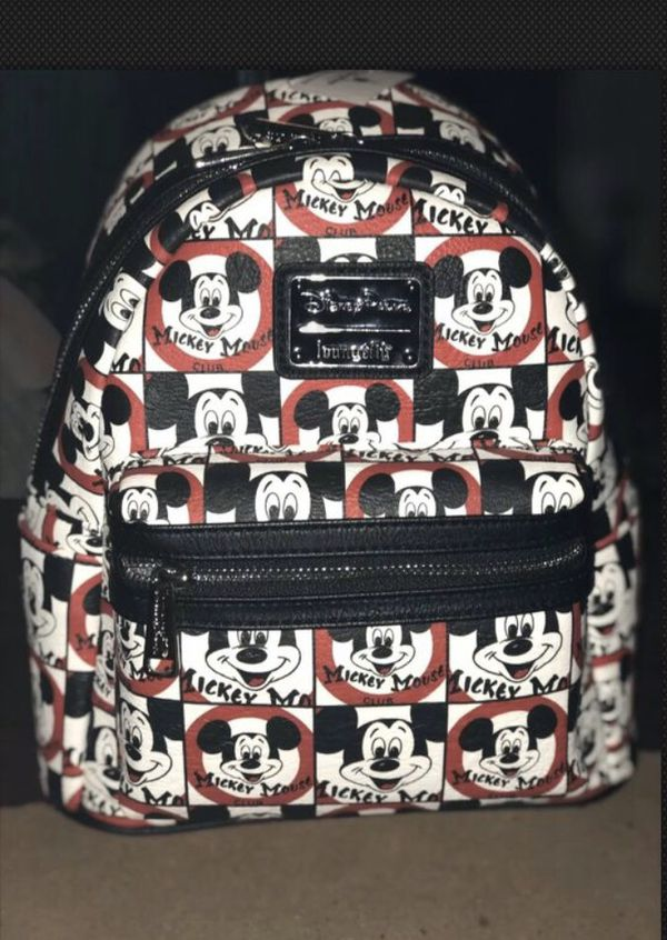 NWT Mickey Mouse Club Loungefly Backpack & Mini Mouse Wallet