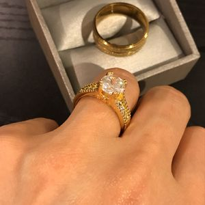 🤵👰💍 18K Gold plated Matching Ring Set - Solitaire / Circle Styles 🤩 for Sale in Dallas, TX