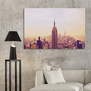 ((FREE SHIPPING)) cityscape of new york city skyline - giclee print gallery wrap modern home decor Painting like print for Sale in Atherton, CA