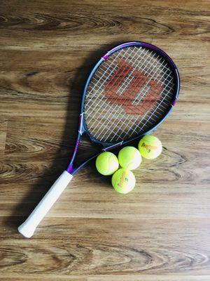 Wilson Tennis Racket & 4 Balls for Sale in Arlington, VA