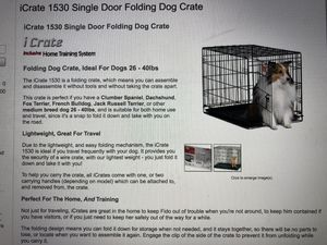 iCrate 1530 single door folding Dog crate for Sale in Rochelle Park, NJ