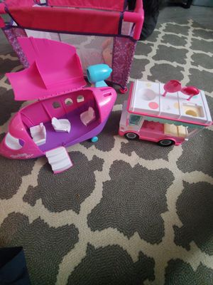 Shopkins airplane and i love noms ice cream truck for Sale in Houston, TX