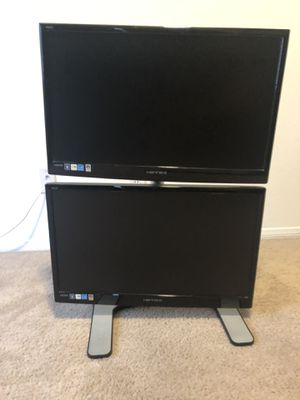 Dual 23.6 widescreen monitors & vertical stand for Sale in Las Vegas, NV