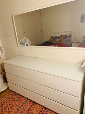 IKEA DRESSER (MALM) with mirror for Sale in Queens, NY