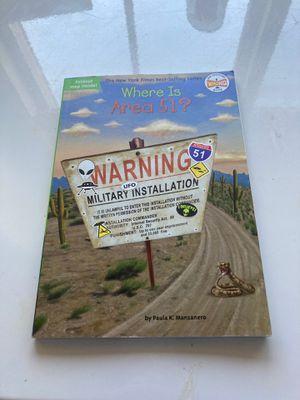 Where Is? Area 51 Book for Sale in Visalia, CA