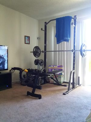 300lb olympic weight set and rack for Sale in Oakland, CA