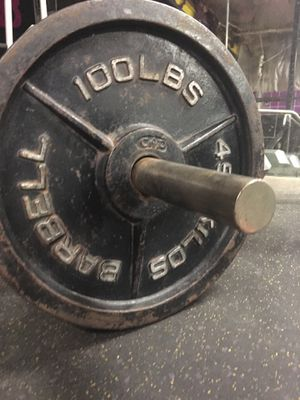 (4) 100 lb. Olympic Weight Plates for Sale in Waterbury, CT