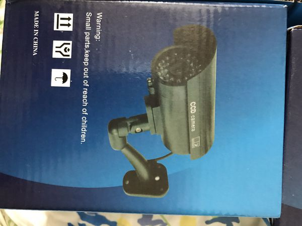 Dummy cctv security camera with censor