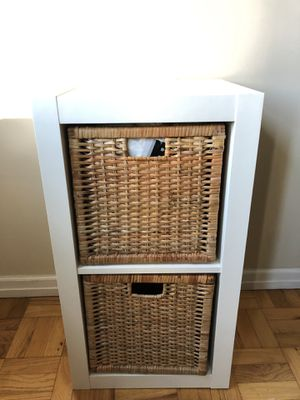 """31"""" White KIDS Cube Shelf Unit Cabinet, Storage, Bookcase with Baskets for Sale in New York, NY"""