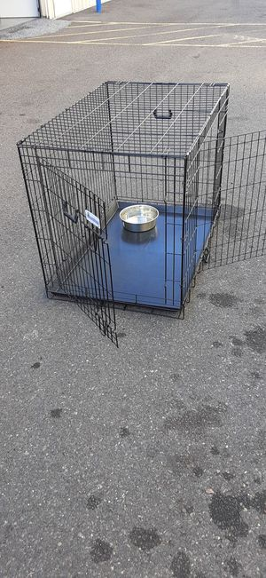 Heavy duty extra large dog cage crate safe clean reliable and ready for immediate use folds for Easy Storage or transport pick up or curbside del. for Sale in Pennsauken Township, NJ