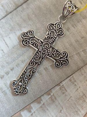 Handmade Boho 925 Sterling Silver Cross Pendant for Sale in Wichita, KS