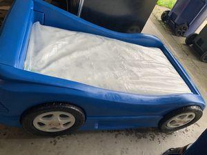 Boys car bed w mattress twin size mattress still in plastic brand new for Sale in Columbia, SC