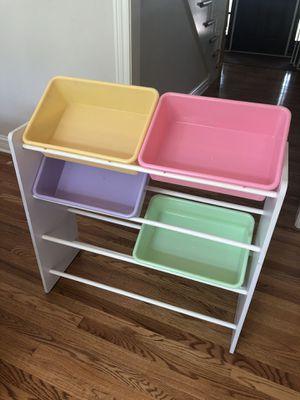 Toy Storage Rack with Bins for Sale in Glen Ellyn, IL