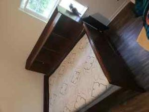 Solid wood full size bed mattress optional for Sale in Charlotte, NC