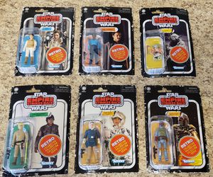 Star Wars Retro Collection Wave 2 Figure Set Boba Fett Yoda Lando Han for Sale in Littleton, CO