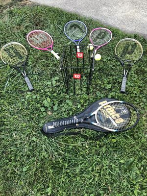 Tennis rackets and ball holder for Sale in Moonachie, NJ