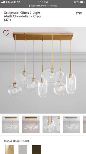 West Elm 7 light chandelier - brand new in box for Sale in Los Angeles, CA
