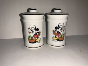 Vintage Disney Productions Mickey Mouse Chef Salt and Pepper Shaker for Sale in Freehold, NJ