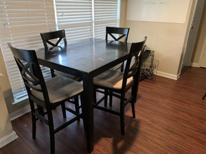 Wooden Kitchen table, with four suede seats. for Sale in Chapel Hill, NC