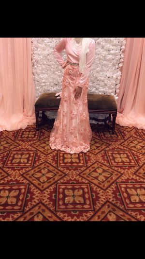 Gorgeous silky pink flower dress for Sale in Westlake, OH