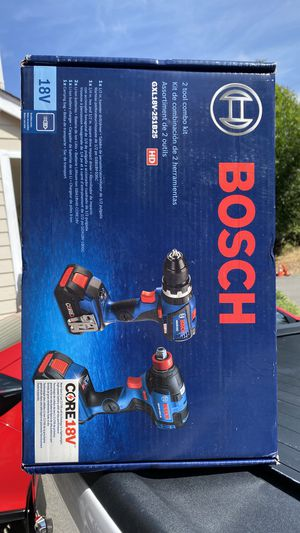 Bosch 2-Tool Core18v Brushless Power Tool Combo Kit with Soft Case (Charger Included and 2-Batteries Included) $ 240 firm for Sale in Federal Way, WA