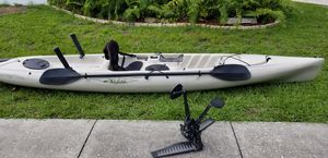 Hobie Pedal Kayak, turbo fins, sailing rudder, bazooka rod holders KINGFISH KILLER! for Sale in Largo, FL