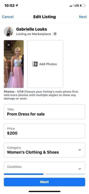 prom dress for Sale in Rochester, MN