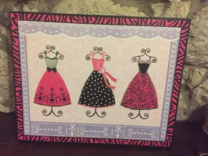 Girly wall art/little girls frame decor for Sale in San Diego, CA