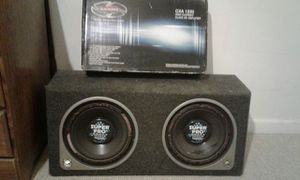 Good 10 inch speakers and brandnew amplifiers $300.00 for Sale in Reston, VA