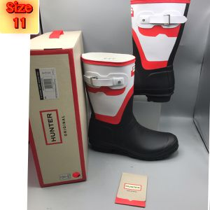 Hunter Original Short Shadow Print Rain Boots Hunter Red White Black Size 11 for Sale in Tinton Falls, NJ