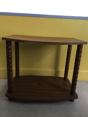 Small two shelf wood tone table for Sale in Frostproof, FL