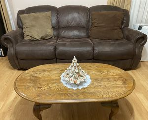 Recliner Sofa with Center Table for Sale in Temple Hills, MD