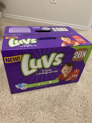 NEW Luvs Diapers Size 1 for Sale in Bulverde, TX