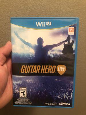 Wii U Guitar Hero Set for Sale in Fullerton, CA