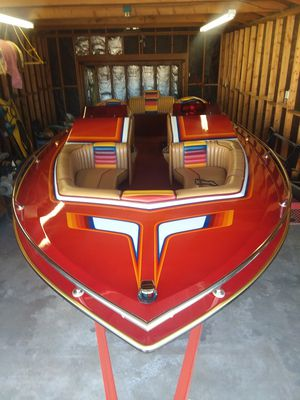 """1986 Eliminator 20'6"""" 350 a Chevy Mercury 260 Outdrive. Upgraded to 5 blade stainless steel prop for Sale in Highland, CA"""