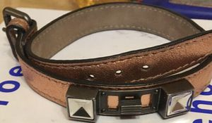 Authentic in box worn once Metallic Proenza Schouler Double Wrap PS2 bracelet. Original MSRP $400 plus. long so added holes can be added. must sell for Sale in New York, NY