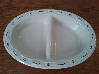 "Longaberger 13"" Oval Divided Vegetable Bowl for Sale in West Springfield,  VA"