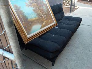 Futon couch black for Sale in El Cajon, CA