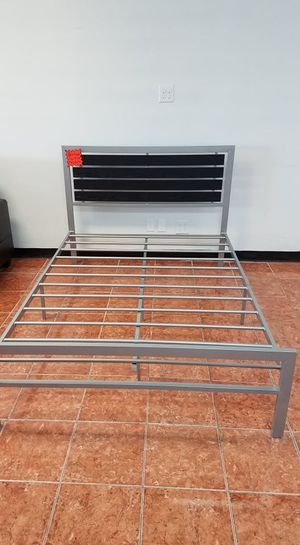 Metal Bed Frame in Bonded Leather [Twin Size $179] [Full Size $199] for Sale in Irving, TX
