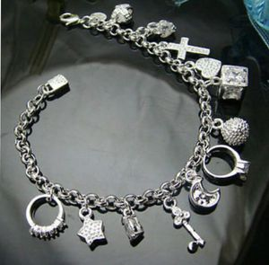 925 Sterling Silver 13 Charms Bracelet for Sale in Orlando, FL