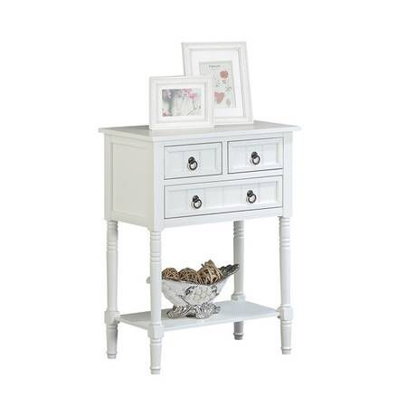 Convenience Concepts Entry Way Console / Hall Table in White