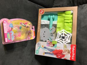 Clean up dust set + butterbeans cafe doll both $10new for Sale in Downey, CA
