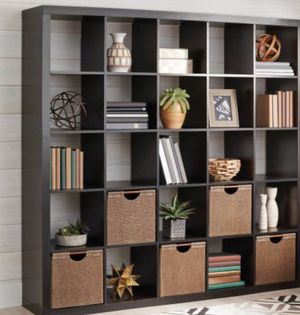 New!! organizer, bookcase, bookshelves, storage unit, console, 25 cubes organizer, TV stand, lamp stand, living room furniture, entrance furniture , for Sale in Phoenix, AZ